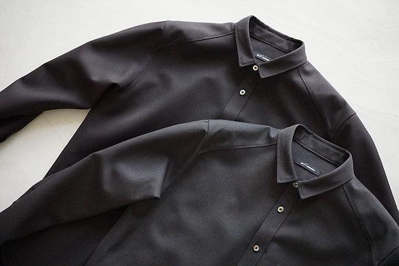 tilt The authentics  wool silk tilt shirt (dark chocolate , deep chacoal)