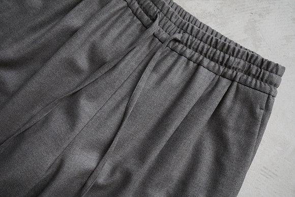 WIRROW  soft wool drawstring pants (grege)