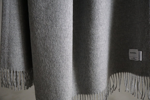 THE INOUE BROTHERS...  Large Brushed Stole (light grey)