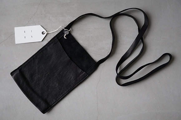 GUIDI  passport bag (black)