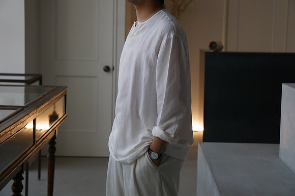 Aquellos Ojos Verdes  Sleeping shirt  (white,beige)
