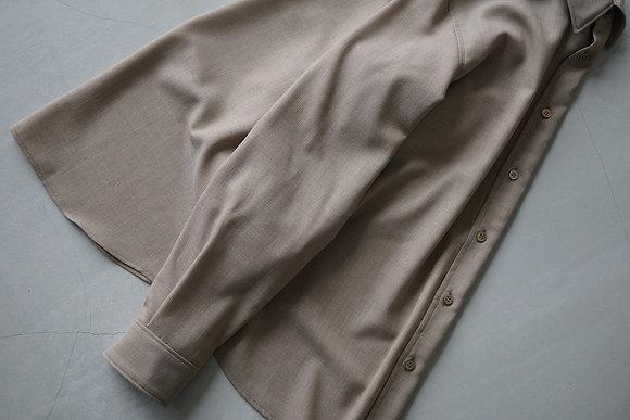 山内 ノーミュールシングメッシュウールシャツ (sand beige)