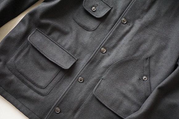 tilt The authentics  fine wool beaver hunting jacket (black)