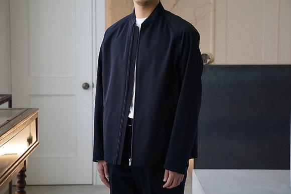 tilt The authentics  back satin gaba flight jacket (dark navy)