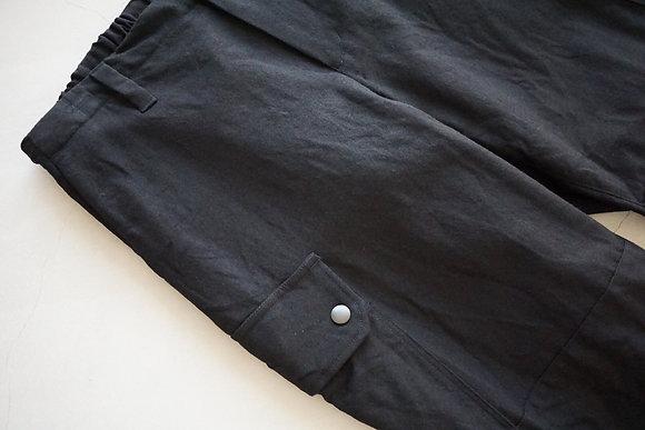 COLINA  washable wool gabardine tactical pants (black)
