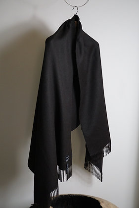 THE INOUE BROTHERS...  Pure Black Large Brtshed Stole (Pure Black)
