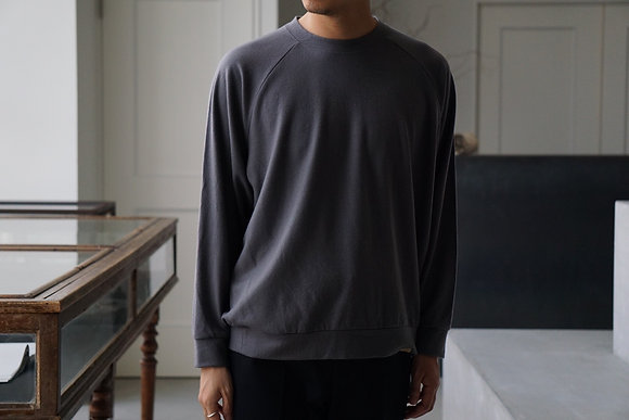 COLINA  super140s washable wool sweat (cement grey)