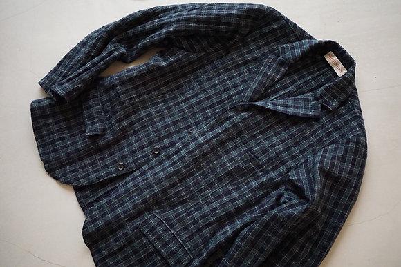 "NICENESS  ""CRANE"" wool cashmere stainless sac coat (navy)"
