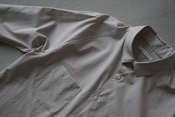 tilt The authentics  yoke raglan shirt (light grey)