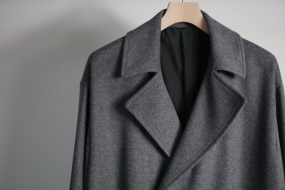 WIRROW  double breasted over coat (grey)