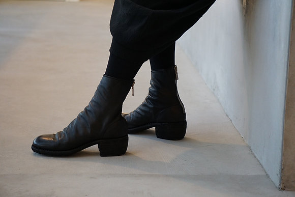 GUIDI  back zip boots for women (black)