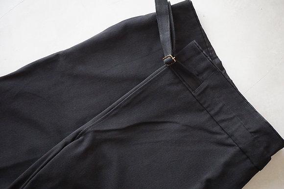 MITTAN  ウールコットンラップパンツ (黒)