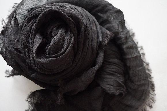 MITTAN  ナーシシルクショール (黒)