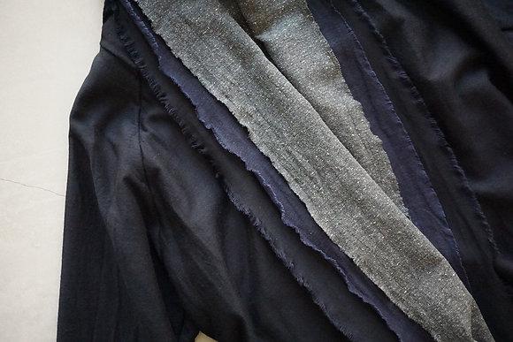 MITTAN  三重織綿絹毛麻ジャケット (紺がさね)