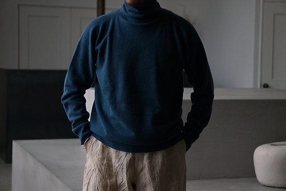 MITTAN  ウールタートルセーター (浅葱,黒)