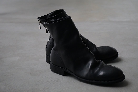 GUIDI  back zip boots for men (black)