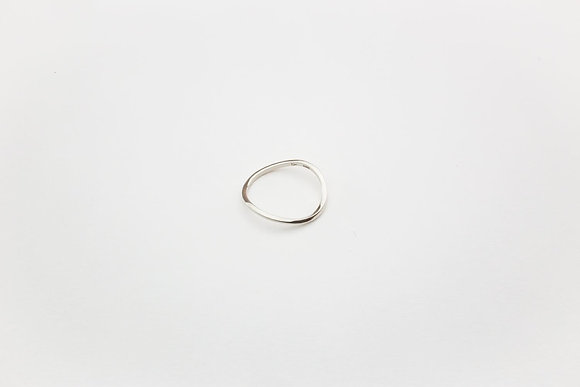 DAN TOMIMATSU Rubber Band Ring (Silver)