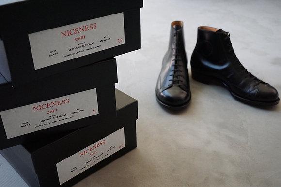 "NICENESS  10hole dress shoes ""CHET"" (black)"