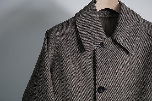 MAATEE&SONS  bal collar coat (mix grey)