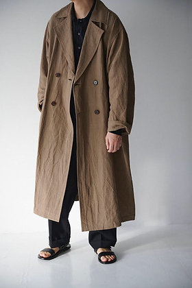 WIRROW  bamboo linen double over coat (khaki beige)