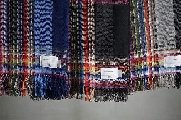 THE INOUE BROTHERS...  Multi Coloured Scarf (black,grey,navy)