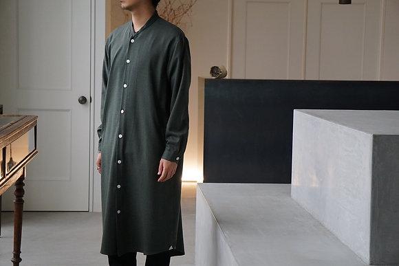 """Aquellos Ojos Verdes  """"unum exclusive"""" kimono collar long shirt coat (green)"""