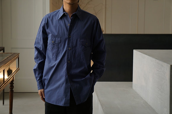 NICENESS  garment dye dress shirts (blue berry)