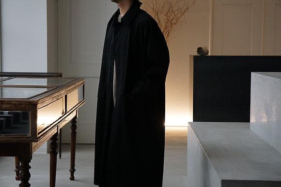 "NICENESS  ex wool 140s NN mac coat ""RIDE"" (black)"