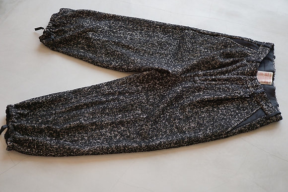 "NICENESS  vintage tweed pants ""COCO"" (black white)"