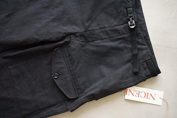 """NICENESS """"BANKS"""" vintage duck field pants (black)"""