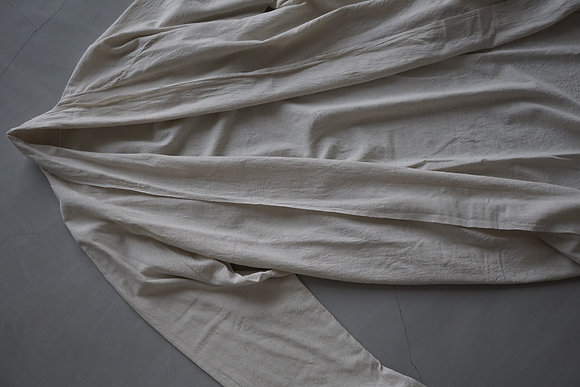 MITTAN  カディロング羽織 (ベンガラ白)