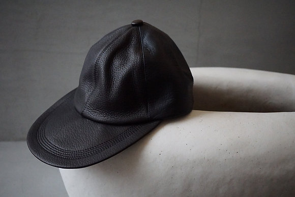 "NICENESS  ""ISLEY"" NN leather cap (black)"