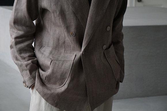 Aquellos Ojos Verdes  Peaked lapel double jacket (beige)