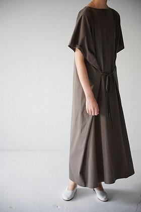 WIRROW  square cut&sewn dress (black)