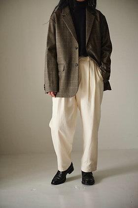 WIRROW  Check wool boxi jacket (beige)