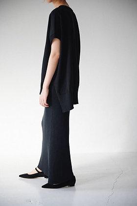 WIRROW  dry cotton wide knit vest (black)