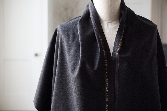 GABRIELA COLL GARMENTS  loro piana wool selvedge scarf (black mottled)