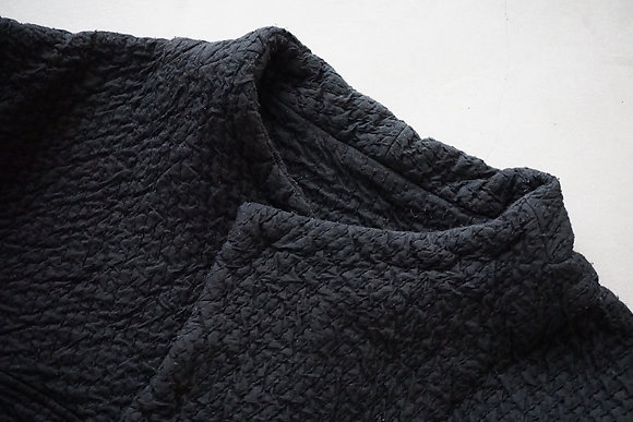 MITTAN  中綿刺し子織ジャケット (黒)