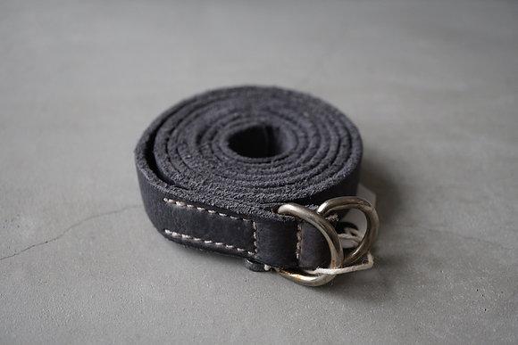 GUIDI  ring buckle slim long belt (grey)