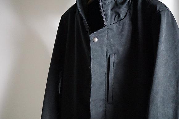 COLINA  high density milicloth army short parka (中綿なし) (black)