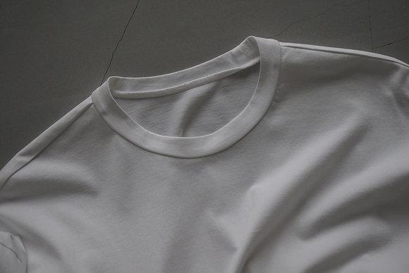 un/unbient  crew neck long sleeve cut&sew (white)