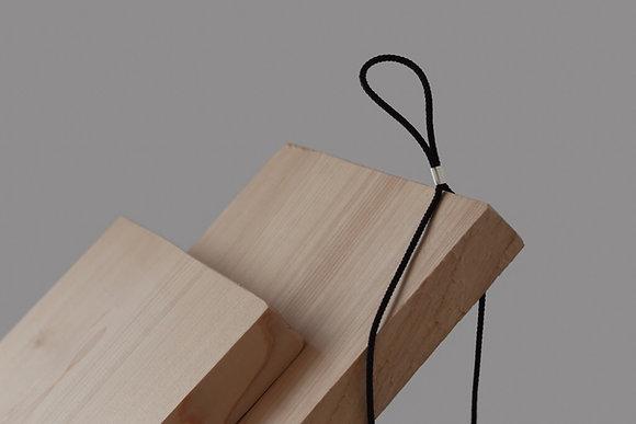DAN TOMIMATSU  Silk Rope Necklace (Silver)