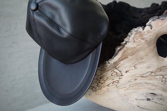 """NICENESS  horse&deer leather cap """"ISLEY"""" (black)"""