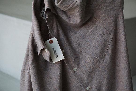 I am dork  cashmere linen loose shirts (melange pink)