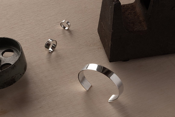 DAN TOMIMATSU  Tape Ring Fold (silver)