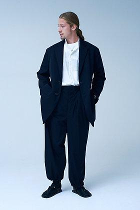 "NICENESS  ex wool 140s highcount gabardine trousers ""PETER"" (black)"