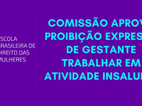 Comissão aprova proibição expressa de gestante trabalhar em atividade insalubre
