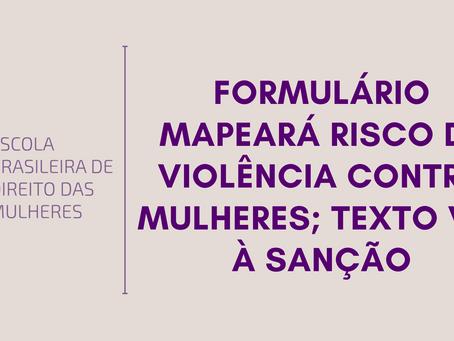 Formulário mapeará risco de violência contra mulheres; texto vai à sanção