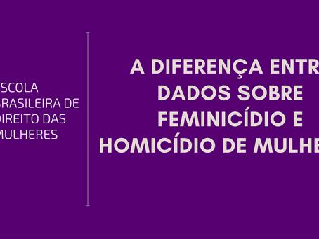 A diferença entre dados sobre feminicídio e homicídio de mulheres