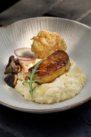 Risotto aux champignons et son foie gras
